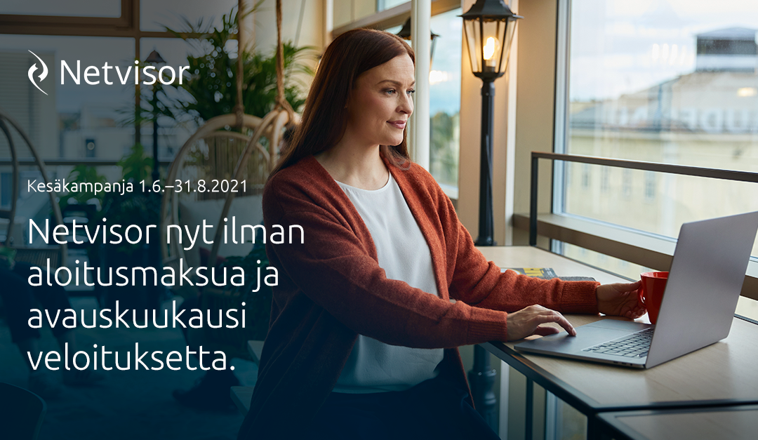 Netvisorin kesäkampanja 1.6.-31.8.2021
